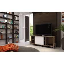 manhattan comfort nacka 2 0 oak and white entertainment center