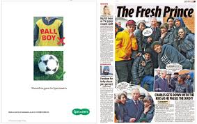 specsavers uses press for hazard ballboy ad  able specsavers newspaper ad