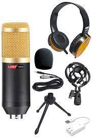Lastvoice BM800HC Yellow Condenser Mikrofon Kulaklık Seti
