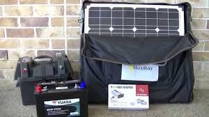 Solar Powered Mini Fridge Portable Solar Panel Setup For Camping Or Caravan With Battery