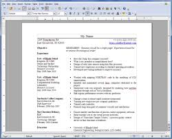 Open Office Resume Templates Fascinating Open Office Resume Template 48 Learnhowtoloseweightnet