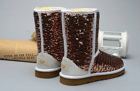 ... UGG Classic Short Sparkles Boots Brown ...