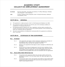 Collective Bargaining Agreement Template Amazing Sample Manager Employment Contract Employment Contract Template