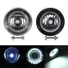 Black Chrome Led Motorcycle Bullet Headlights High Low Beam Head Light Lamp