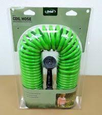 coil garden hose. Item 6 Orbit Green 50\u0027 Coiled Garden Hose With 8 Pattern Spray Nozzle, Coil Hoses 27872 -Orbit R