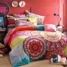 indian style bedding colorful bedding sets red blue and yellow bohemian tribal circle throughout comforter set indian style bedding