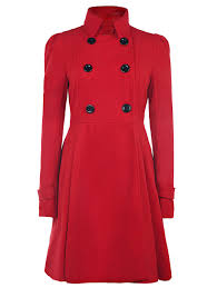 fit and flare peacoat red s