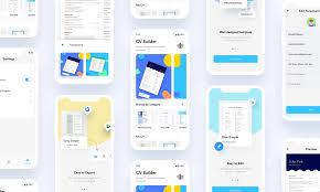 App Resume Ezy Resume Cv Builder App Case Study Muzli Design