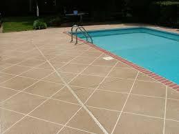 pool deck brick edge tan diagonal