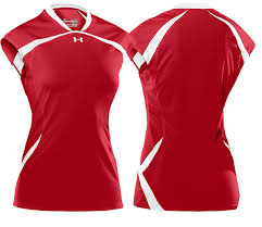 under armour volleyball. under armour elevate cap sleeve jersey - red/white volleyball
