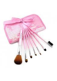 pink 7 pcs soft texture makeup brush sets s1800040