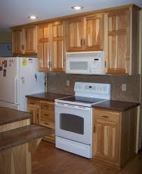 Kitchens With White Appliances Hickory Cabinets White Appliances Red Wallsworks Well With A