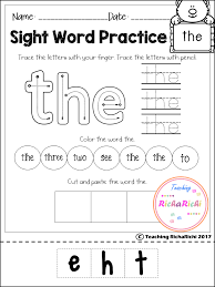 FREE Sight Word Activities (Pre-Primer) | Teaching RichaRichi ...