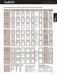 Window Entrancing Andersen Window Sizes Chart Your Home