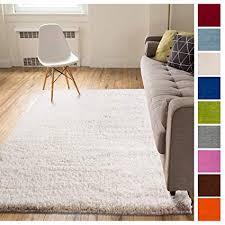 plush bedroom rugs. Modren Plush Solid Retro Modern Ivory OffWhite Shag 5x7  5u0027 X 7u00272 To Plush Bedroom Rugs P