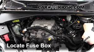 blown fuse check 1997 2005 chevrolet venture 2004 chevrolet locate engine fuse box and remove cover