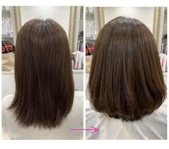 脱縮毛矯正縮毛矯正による四角くなるヘアスタイルのお悩みを髪質