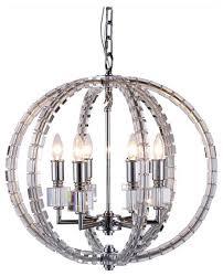cristal 6 light polished nickel pendant chandelier clear crystal traditional pendant lighting