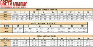 27 Expository Greys Anatomy Size Chart