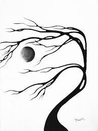 abstract drawing abstract art original decorative painting moon song by madart