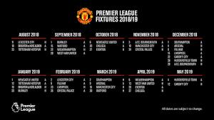 Jadwal liga champions malam ini, psg vs mu kickoff 02.00 wib. Jadwal Manchester United Di Liga Inggris 2018 2019 Bolagp Sport