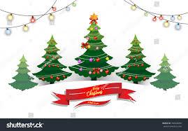 Paper Christmas Tree Lights Christmas Tree Lights That Adorn Tree Stock Vector Royalty