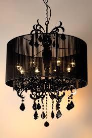 black chandelier black crystal 8 arm with black shade dimensions