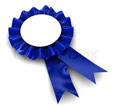 Blue Ribbon Design 3d Illustration Of Blue Ribbon Award Stock Image