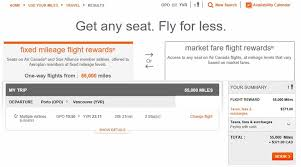 Aeroplan Fixed Mileage Chart Using Aeroplan Miles To Purchase Or Upgrade To Business Class