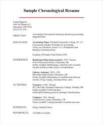 Reverse Chronological Cv Examples Of A Chronological Resume Etame