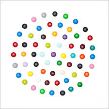 hirst you ll recall recently exhibited more than 300 canvases consisting solely of polka dots which by and large someone else painted in every gagosian