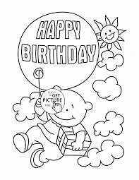 Happy Birthday Coloring Pages Neuhneme