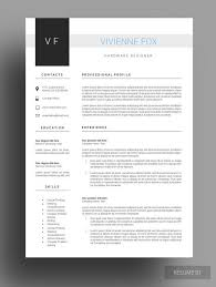 Medical Resume Template Cover Letter for MS Word Medical CV - clean resume  design