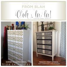 image stencils furniture painting. take furniture blah to ooh la cutting edge stencils shares painted image painting