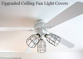 how to upgrade your ceiling fan light covers