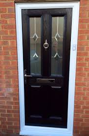 simple and neat black front door with glass for your house decoration design astonishing white