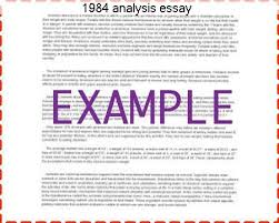 analysis essay homework academic service 1984 analysis essay