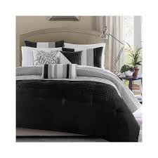 home and garden home furnishings madison park infinity black grey 7 piece comforter set