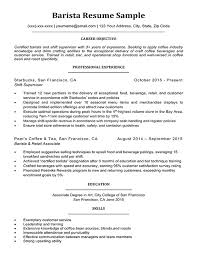 Barista Resume Sample & Writing Tips | Resume Companion