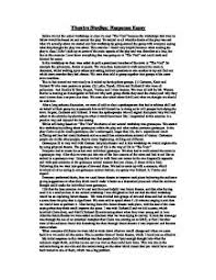 theatre studies response essay a level drama marked by page 1 zoom in