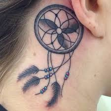 Dream Catcher Tattoo Behind Ear 100 Small Dreamcatcher Tattoo Placement Ideas 8
