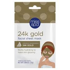 Miss Spa <b>24k Gold Facial Sheet</b> Mask - 1ct/0.88oz : Target