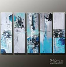 2018 framed 5 panels huge black white and blue wall art 5 panel canvas oil painting abstract home decoration picture from sonphone 184 0 dhgate com on black white blue wall art with 2018 framed 5 panels huge black white and blue wall art 5 panel