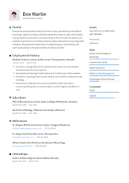 Medical Resume Medical Science Liaison Resume Templates 2019 Free Download