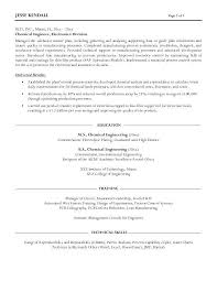 Engineer Resume Classy Resume For Internship Chemical Engineering