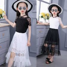 <b>Girls Chiffon Dress 2019</b> Summer Sleeve Irregular Elegant Princess ...