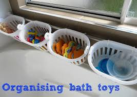 make it clean with bath tub toy holder for kids