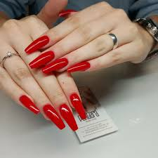 Coffin Designs Red Coffin Nails 1 Double Team Dynamicpunch Powerful Strong