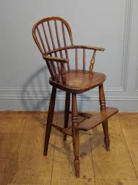 sold 19th century ash beech and elm child s high chair to zoom
