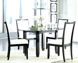 modern extendable glass dining tables for contemporary room decoration cool solid black top table round exte